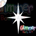 Picture of Christmas Star / North Star Glitter Tattoo Stencil (5pc pack)
