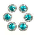 Picture of Double Round Gems - Turquoise - 16mm (6 pc.) (SG-DRT)
