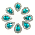 Picture of Double Teardrop Gems - Turquoise - 13x18mm (8 pc.) (SG-DTT)