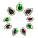 Picture of Double Teardrop Gems - Christmas Set - 10-18mm  (9 pc.) (AG-DT2)