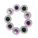 Picture of Double Round Gems - Maleficent Set - 12mm  (9 pc.) (AG-DRM3)