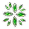 Picture of Double Pointed Eye Gems - Green - 6x14mm & 10x25mm (12 pc.) (AG-DPEG)
