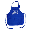 Picture of Face Painter - Medium Length Apron With Pouch - Royal Blue
