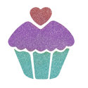 Picture of Cupcake Glitter Tattoo Stencil - HP (5pc pack)
