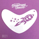 Picture of Art Factory Boomerang Stencil - Rocket (B021)