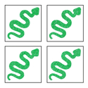Picture of Mini 4 in 1 Snake Glitter Tattoo Stencil - HP (5pc pack)