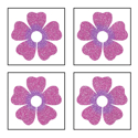 Picture of Mini 4 in 1 Flower Glitter Tattoo Stencil - HP (5pc pack)