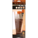 Picture of Loew Cornell - Studio Elements Golden Taklon Brush Set 1024936 (6pc)
