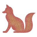 Picture of Fox Glitter Tattoo Stencil - HP (5pc pack)
