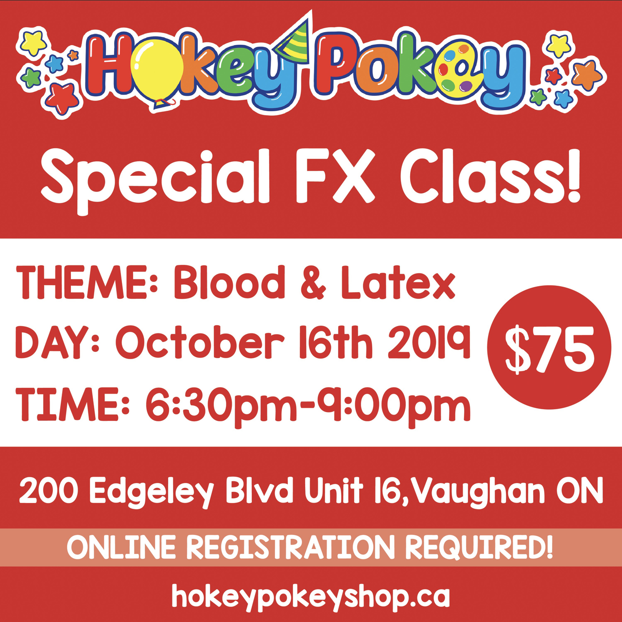 Picture of Special FX Class - Blood & Latex - October 16th, 2019
