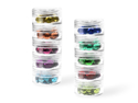 Picture of Craft & Bead Storage: 1.2''x 0.9''- Screw-Stack Canisters x10 - PB813