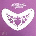 Picture of Art Factory Boomerang Stencil - Heart Crown (B016)