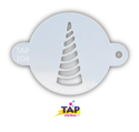 Picture of TAP 104 Face Painting Stencil - Unicorn Horn Swirl