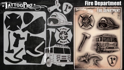 Picture of Tattoo Pro Stencil -  Fire Department  (ATPS178)