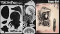 Picture of Tattoo Pro Stencil -  Gypsy Girl  (ATPS186)
