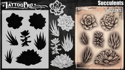 Picture of Tattoo Pro Stencil -  Succulents (ATPS180)