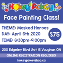 Picture of One Stroke Face Painting Beginner Class - Masked Heroes - April 6th, 2020