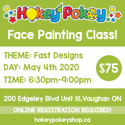 Picture of One Stroke Face Painting Beginner Class - Fast Designs - May 4th, 2020
