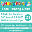 Picture of One Stroke Face Painting Beginner Class - Sea Creatures - August 10th, 2020
