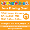 Picture of One Stroke Face Painting Beginner Class - Spiders & Dragons - September 14th, 2020