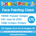 Picture of One Stroke Face Painting Beginner Class - Popular Designs - June 1st, 2020