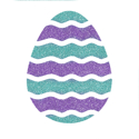 Picture of Easter Egg Glitter Tattoo Stencil - HP (5pc pack)