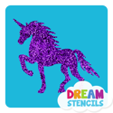 Picture of Magical Unicorn Glitter Tattoo Stencil - HP-99 (5pc pack)