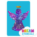 Picture of Angel Glitter Tattoo Stencil - HP-17 (5pc pack)
