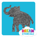 Picture of Elephant Glitter Tattoo Stencil - HP-7 (5pc pack)