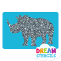 Picture of Rhino Glitter Tattoo Stencil - HP-15 (5pc pack)
