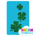 Picture of Cascading Four-Leaf Clovers Glitter Tattoo Stencil - HP-41 (5pc pack)