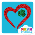 Picture of Heart Shamrock Glitter Tattoo Stencil - HP-46 (5pc pack)
