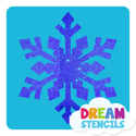 Picture of Frozen Snowflake Glitter Tattoo Stencil - HP-33 (5pc pack)