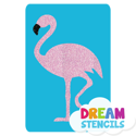 Picture of Flamingo Glitter Tattoo Stencil - HP-57 (5pc pack)