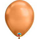 "Picture of 7"" Qualatex Chrome Copper round balloons - (100/bg)"