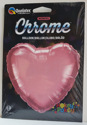 "Picture of 18"" Chrome Mauve Heart Foil Balloon(1pc)"