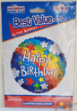 "Picture of 18"" Kaleidoscope Happy Birthday Rainbow Foil Balloon (1pc)"