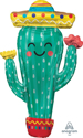 "Picture of 38"" Super Shape Fiesta Cactus Foil Balloon (1pc)"
