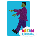 Picture of Walking Frankenstein Glitter Tattoo Stencil - HP-177 (5pc pack)