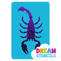Picture of Scorpion -1  Glitter Tattoo Stencil - HP-203 (5pc pack)