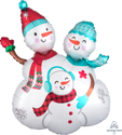 "Picture of Snow Family Foil Balloon - 31"" (1pc)"