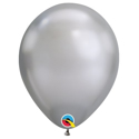 "Picture of 11"" Chrome SILVER round balloons - 100 count"