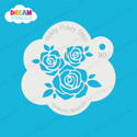 Picture of Three Roses with Leaves - Dream Stencil - 90