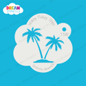Picture of Twin Palm Trees - Dream Stencil - 156