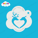 Picture of Deer in Love - Dream Stencil - 245