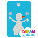 Picture of Juggling Snowman Glitter Tattoo Stencil - HP-206 (5pc pack)