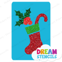 Picture of Christmas Stocking Glitter Tattoo Stencil - HP-207 (5pc pack)
