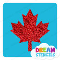 Picture of Canada Maple Leaf Glitter Tattoo Stencil - HP-221 (5pc pack)