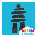 Picture of Inukshuk #3 - Glitter Tattoo Stencil - HP-226 (5pc pack)